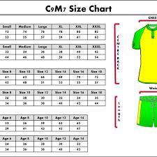 Soccer Jersey Size Chart Techinternationalcorp Com