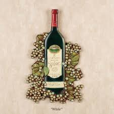 on large wine bottle wall art with wine bottle wall plaque