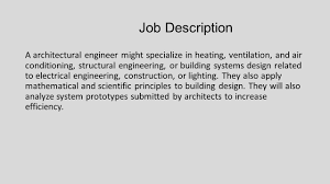 Structural Engineer Job Description Architectural Engineering Ppt Video Online Download 18