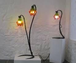flower standard lamp and desk light