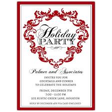 Venetia Red Holiday Invitations