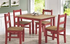 dining set wood. rodgers solid wood 5 piece dining set