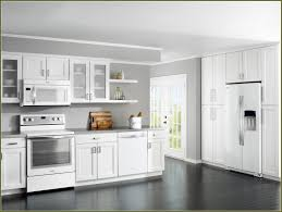 painted kitchen cabinets with black appliances. Cream Colored Kitchen Cabinets With White Appliances Painted Black D