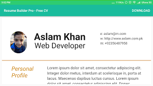 Resume Builder Pro Free Cv Android Apps On Google Play