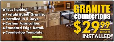 most affordable granite countertops for your kitchen and bathroom remodeling projects