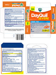 Tylenol Cold And Flu Severe Dosage Chart Dayquil Severe Cold And Flu Tablet Lil Drug Store