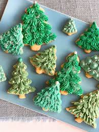 Sugar Cookie Tree Designs Almond Ginger Cookies With Cream Cheese Frosting
