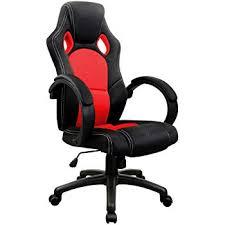 desk chair.  Chair Desk Chair Swivel PC Office Tilt Function Padded Adjustable Height  Ergonomic Textile Black Red Intended Chair M