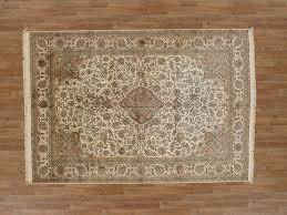 6 x 8 fine kashmiri silk area rug
