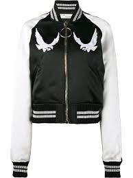 off white bird embroidered er jacket black women clothing jackets off white shirt