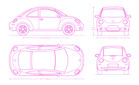 Volkswagen New Beetle Dimensions Drawings Dimensions Guide