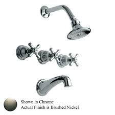 three handle tub shower faucets 3 handle shower faucet brushed nickel photo 4 of 6 charming
