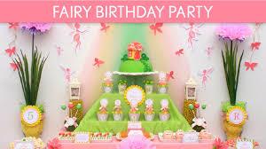 Fairy Birthday Party Decorations Fairy Birthday Party Ideas Fairy B15 Youtube