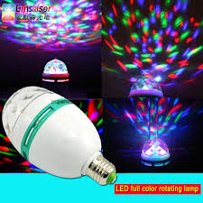 Rotating Color Light Hot Item Led Full Color Rotating Lamp 3w E27 B22 Rgb Spotlight Led Globe Bulb Mini Led Party Light