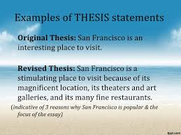 the process essay examples of thesis