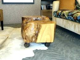 tree trunk coffee table diy tree trunk coffee table end tables chic stump nightstand modern tree