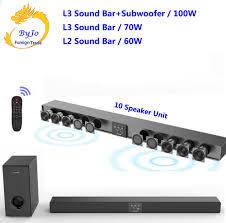 AMOI L3 L2 Bluetooth Soundbar Treo Tường Gỗ Nguyên Chất Tivi Loa 3D Âm Thanh  Rạp Hát Tại Nhà 10 Sừng Tích Hợp 