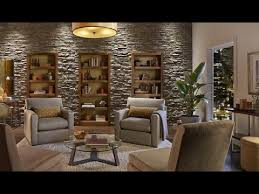 create an accent wall with faux stone