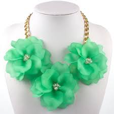 <b>Flower</b> Necklace for Women Colorful Short Choker Fashion Jewelry ...