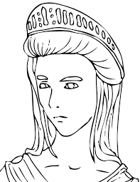 A young and smiling greek citizen. Greek Mythology 109671 Gods And Goddesses Printable Coloring Pages