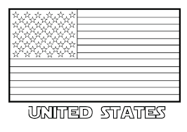 American Flag Coloring Page For First Grade Coloring Online Design