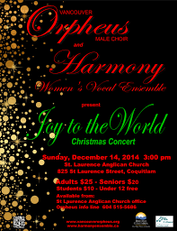 Christmas Concert Poster Vancouver Orpheus Male Choir Home Page