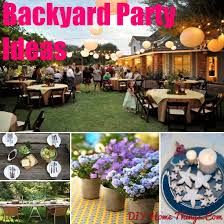 Spring is here and so is the time to indulge in outdoor parties. Outdoor  party at the backyard is a perfect way to party while being at the comfort  of home.