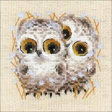 Little Owls Cross Stitch Kit