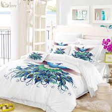 king bedroom decoration highness blue peacock bedding set bed linens pillowcases bedding duvet covers duvets on from periwinkle 70 42 dhgate com