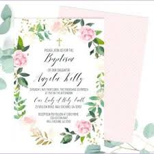 Catholic Baptism Invitations Baptismal Invitation For Baby Girl 16 Elegant Baptismal Invitation