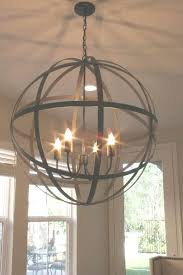 farmhouse orb chandelier distressed