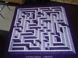 Labyrinth Walk Quilt Pattern Impressive Krista Quilts Amazing Labyrinth January UFO