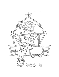 Farm Animal Coloring Pages For Kids Coloringstar