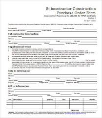 Purchase Order Template 10 Free Word Documents Download Free