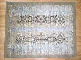 12 1 x15 1 silk with oxidized wool transitional design oversized oriental rug cwr40770