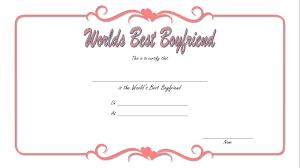Worlds Best Boyfriend Certificate Best 10 Templates