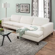 cream colored leather sectional