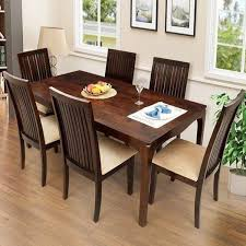 sy dining room chairs ethnic handicrafts elmond 6 seater dining set including dining table