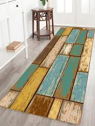 vintage wood floor pattern water absorption area rug colormix w24 inch l71 inch