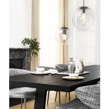 over dining table lighting. Marcel 250mm Pendant In Clear/Black Over Dining Table Lighting