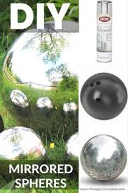 Decorated Bowling Balls How to make a DIY faux gazing ball for the garden SF Globe 65