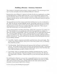 Download Example Of Resume Summary Haadyaooverbayresort Com