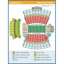 Williams Brice Seating Chart Williams Brice Stadium Events And Concerts In Columbia