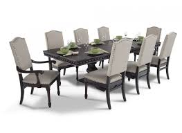 cool 9 pcs dining room set bristol 9 piece dining set bobs furniture