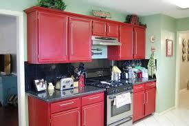 painting wood kitchen cabinetsKitchen  Painting Wood Kitchen Cabinets Red More Red Kitchen