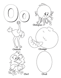 Letter O Coloring Pages - GetColoringPages.com