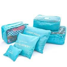 HOME <b>CUBE</b> 6 Pcs Fashion Double Zipper <b>Waterproof</b> Polyester ...