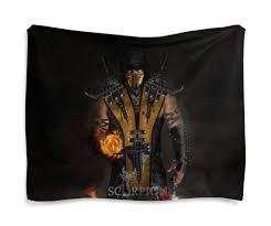 "Гобелен 180х145 ""Mortal Kombat (Scorpion)"" #2494070 от Аня ..."