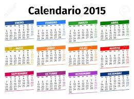 The Year Calendar Spanish Calendar For The Year 2015 Type 3 Royalty Free Cliparts