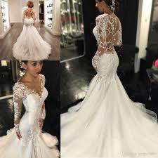 berta country mermaid wedding dresses 2017 sheer long lace